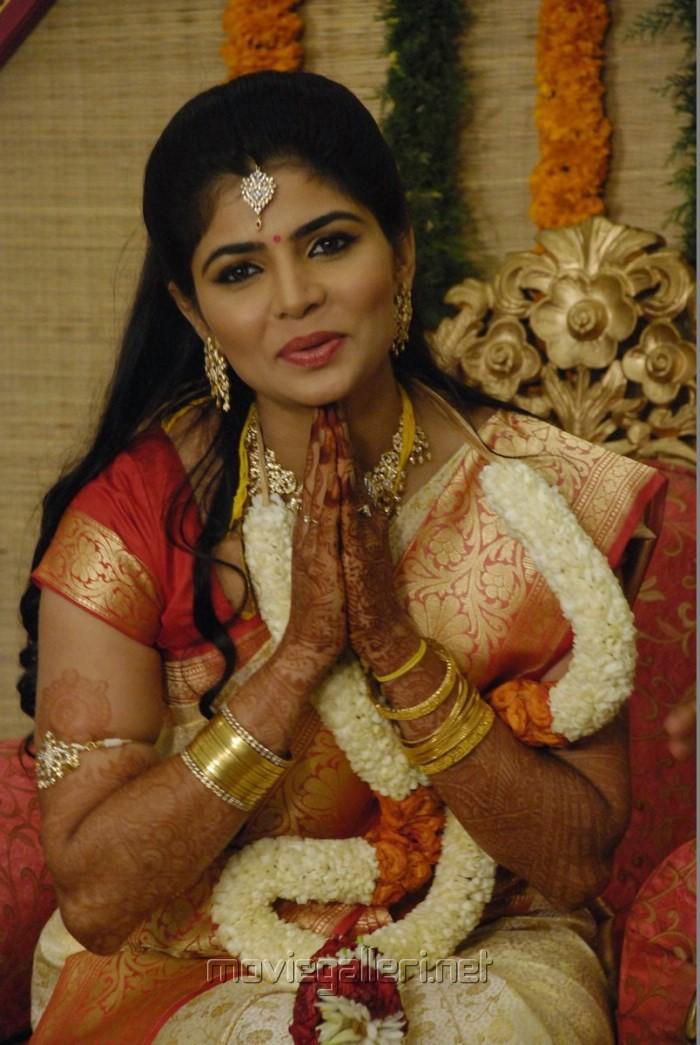 Tamil Singer Chinmayi Wedding Reception Stills