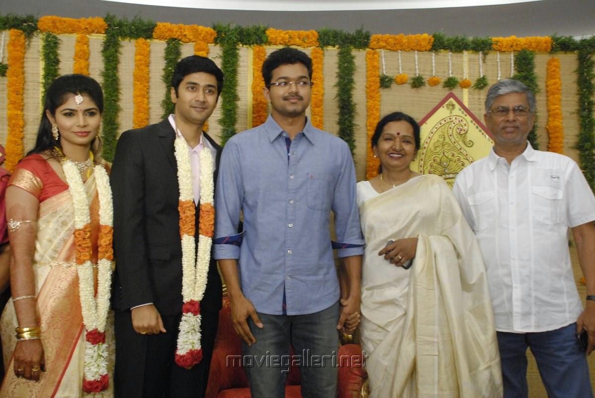 Actor Vijay Family Singer Chinmayi Wedding Reception Stills
