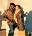Chiranjeevi & Kajal Agarwal @ Khaidi No. 150 Movie Sets
