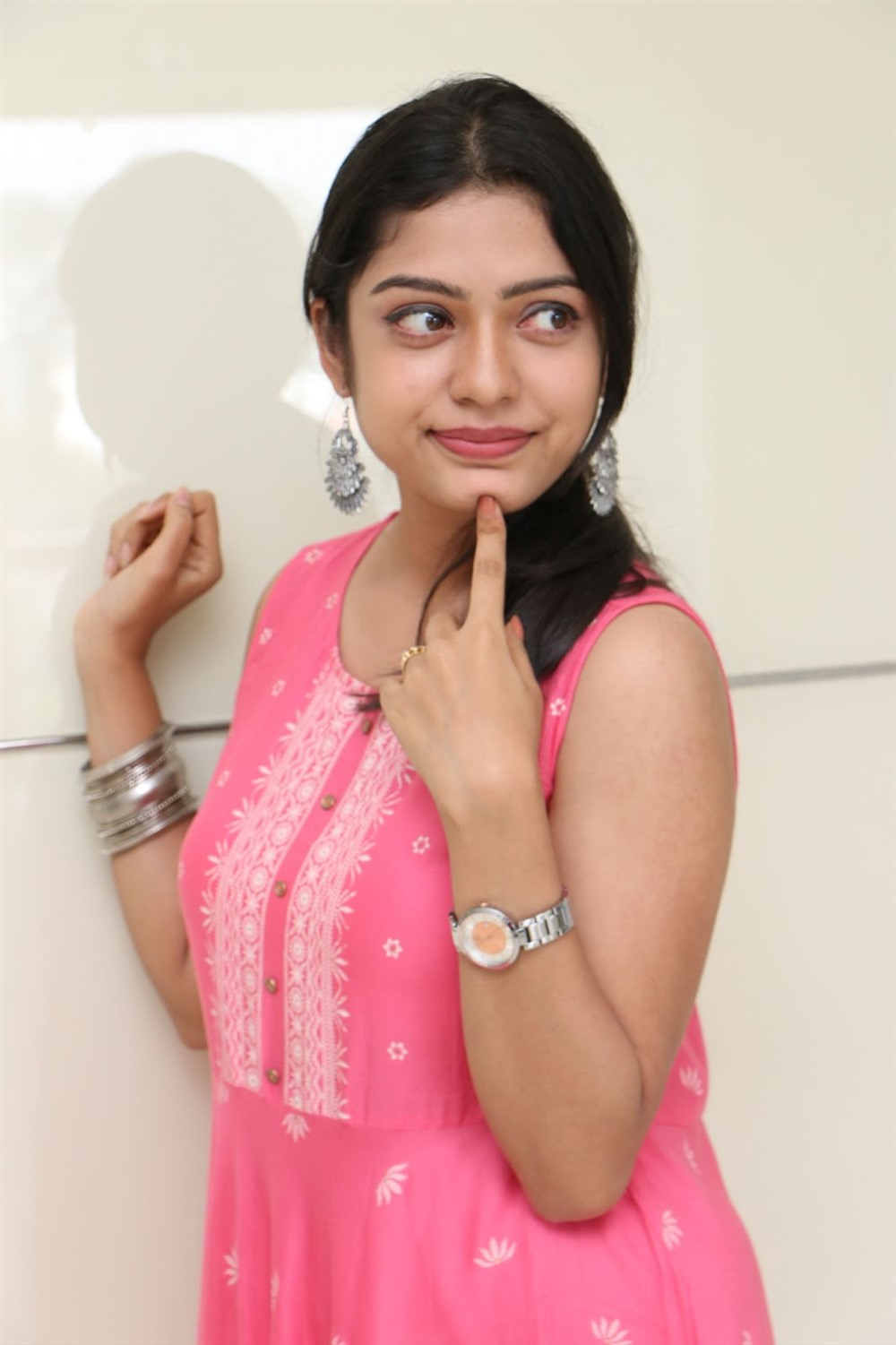 Actress Varsha Bollamma @ Choosi Choodangane Movie Press Meet Stills