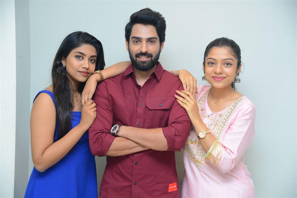 Malavika, Shiva Kandukuri, Varsha @ Choosi Chudangane Movie Platinum Disc Event Stills