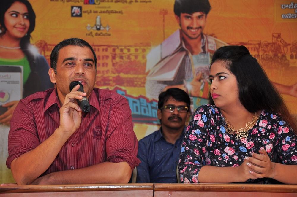 Dil Raju, Avika Gor @ Cinema Chupistha Mava Pre-Release Press Meet Stills