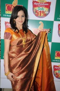 Model Himani Singh in Silk Saree Stills