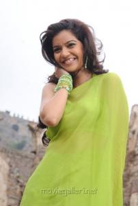 Actress Colours Swathi in Green Saree from KSDA Telugu Movie
