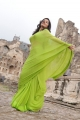 Colours Swathi Latest Photos in Green Saree