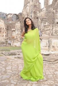 Swathi Latest Hot Photos in Green Saree
