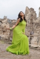 Actress Colours Swathi in Green Saree from KSDA Telugu Movie