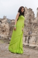 Colors Swathi Hot Photos in Green Saree