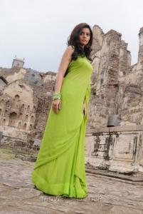 Colors Swathi Hot Photos in Green Saree