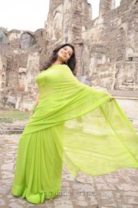 Telugu Actress Colors Swathi Photos in Green Saree