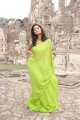 Actress Swathi Stills in Green Saree