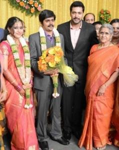 Jayam Ravi @ Crazy Mohan Son Wedding Reception Photos
