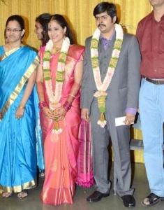 Crazy Mohan Son Wedding Reception Photos