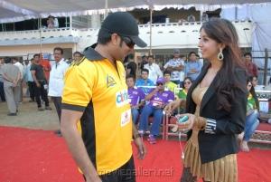 Tarun, Sanjana at Crescent Cricket Cup 2012 Stills