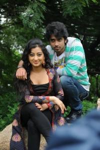 Abhijeet Duddala, Tejaswini at Cut Chesthe Movie Opening Stills