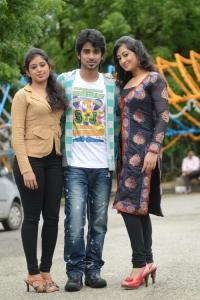 Jeevitha, Abhijeet Duddala, Tejaswini @ Cut Chesthe Movie Opening Photos