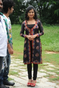 Actress Tejaswini at Cut Chesthe Movie Opening Photos