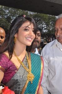 Kajal Agarwal Cute Saree Stills
