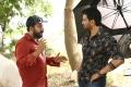 Vijaya Anand, Santhanam @ Dagaalty Movie Working Stills