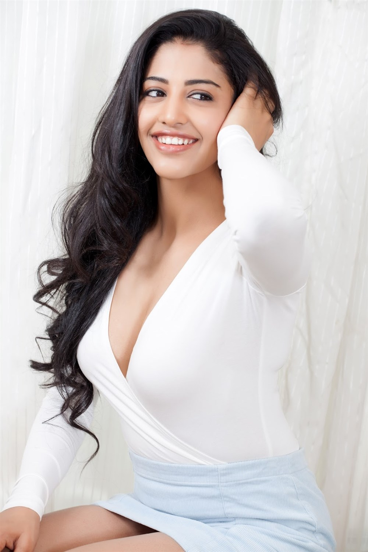 Telugu Actress Daksha Nagarkar Hot Photos in White Dress