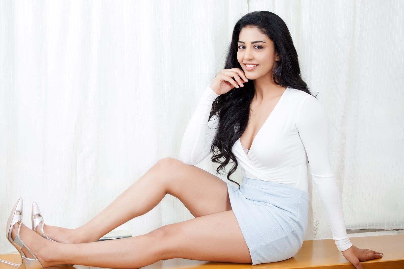 Telugu Actress Daksha Nagarkar in White Dress Glam Photos