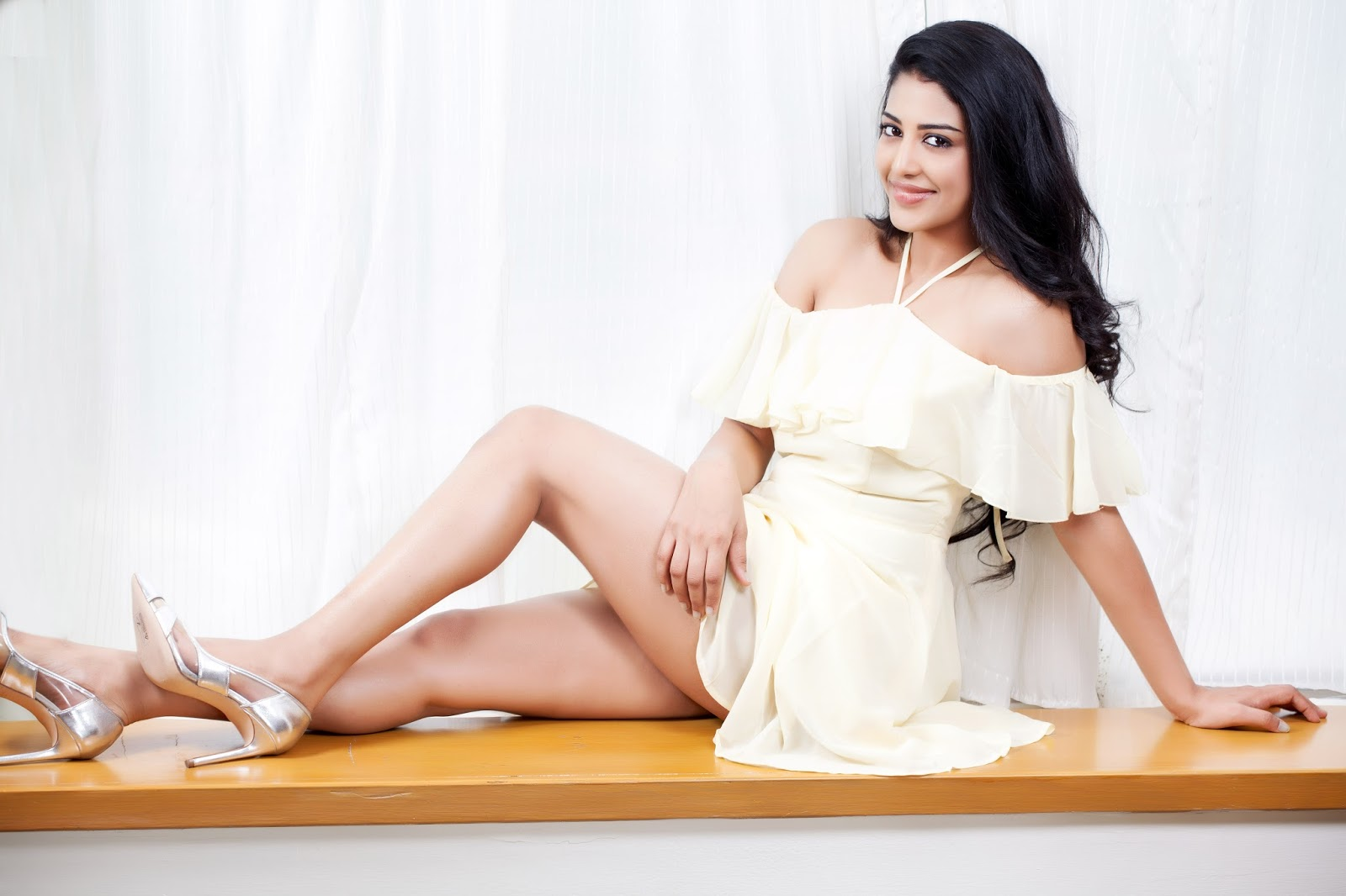 Actress Daksha Nagarkar Glam Photos in White Dress