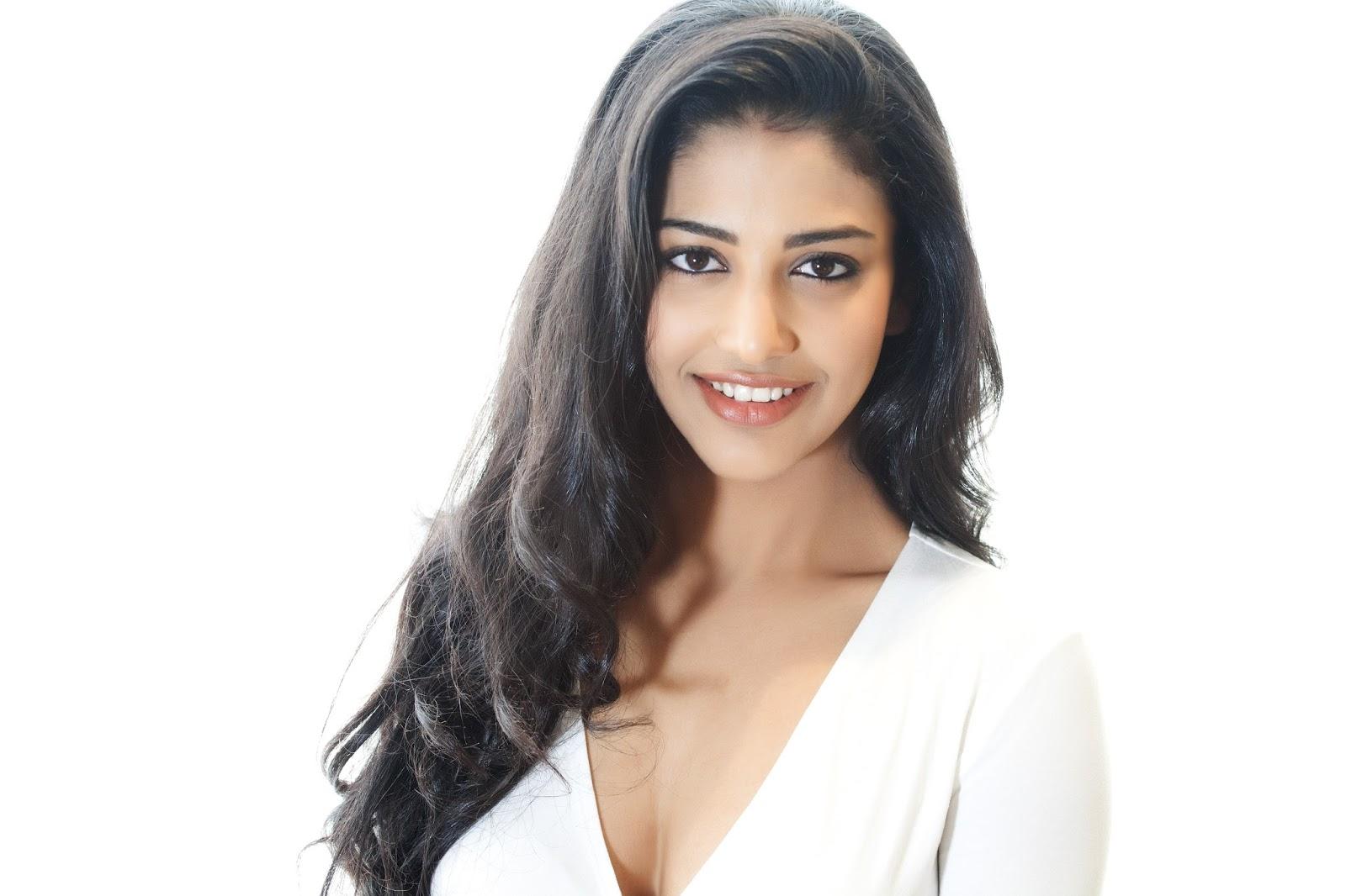 Telugu Actress Daksha Nagarkar Glam Photos in White Dress