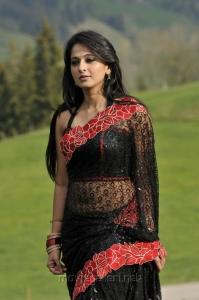 Damarukam Anushka Spicy Hot Saree Latest Photos
