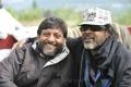 Srinivasa Reddy, Chota K.Naidu at Damarukam Shooting Spot Photos
