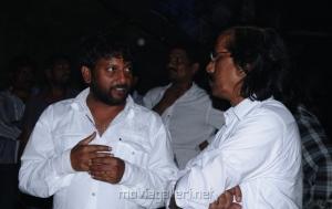 Director Srinivasa Reddy at Damarukam Working Stills