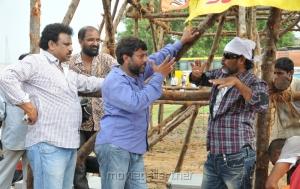 RR Venkat, Srinivasa Reddy, Chota K.Naidu at Damarukam Working Stills