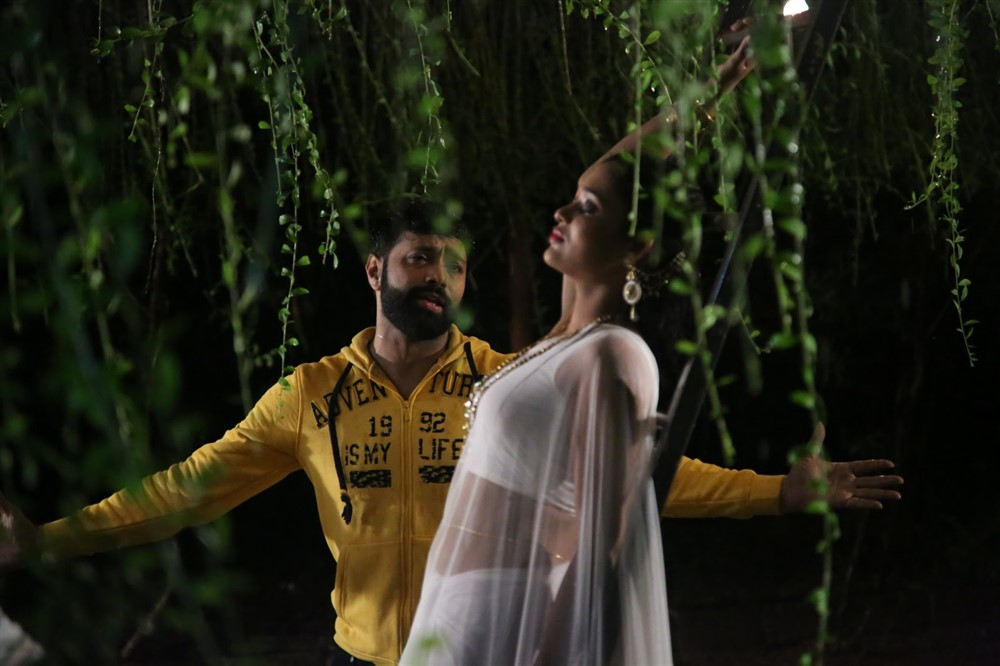 Aditya Om, Rekha Boj in Damini Villa Movie Stills