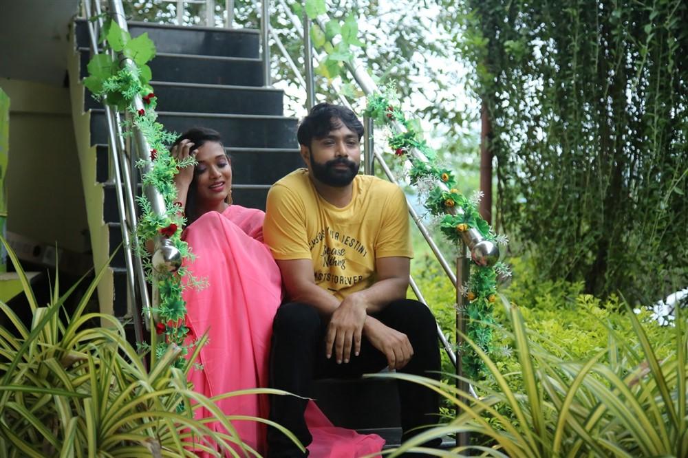 Rekha Boj, Aditya Om in Damini Villa Movie Stills
