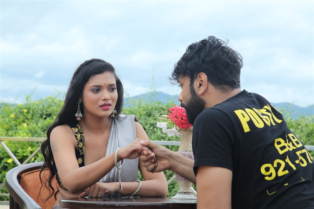 Rekha Boj, Aditya Om in Damini Villa Movie Stills
