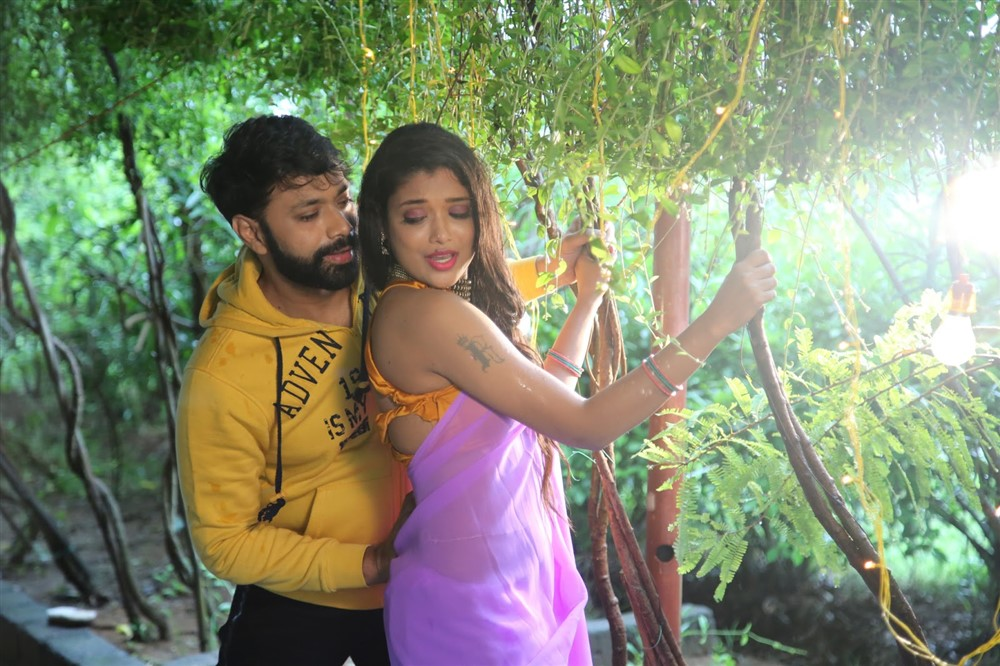 Aditya Om, Rekha Boj in Damini Villa Movie Stills