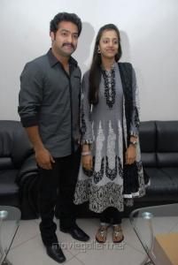 Jr.NTR with Wife Pranathi at Dammu Audio Launch Stills