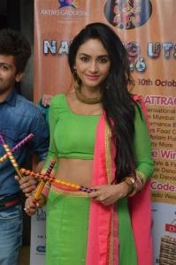 Actress Pooja Sree @ Dandiya Navrang Utsav 2016 Curtain Raiser Stills