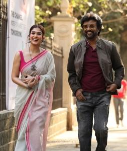 Nayanthara, Rajinikanth in Darbar Movie Images HD