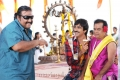 Siva, Ravi Teja, Brahmanandam in Daruvu Working Stills