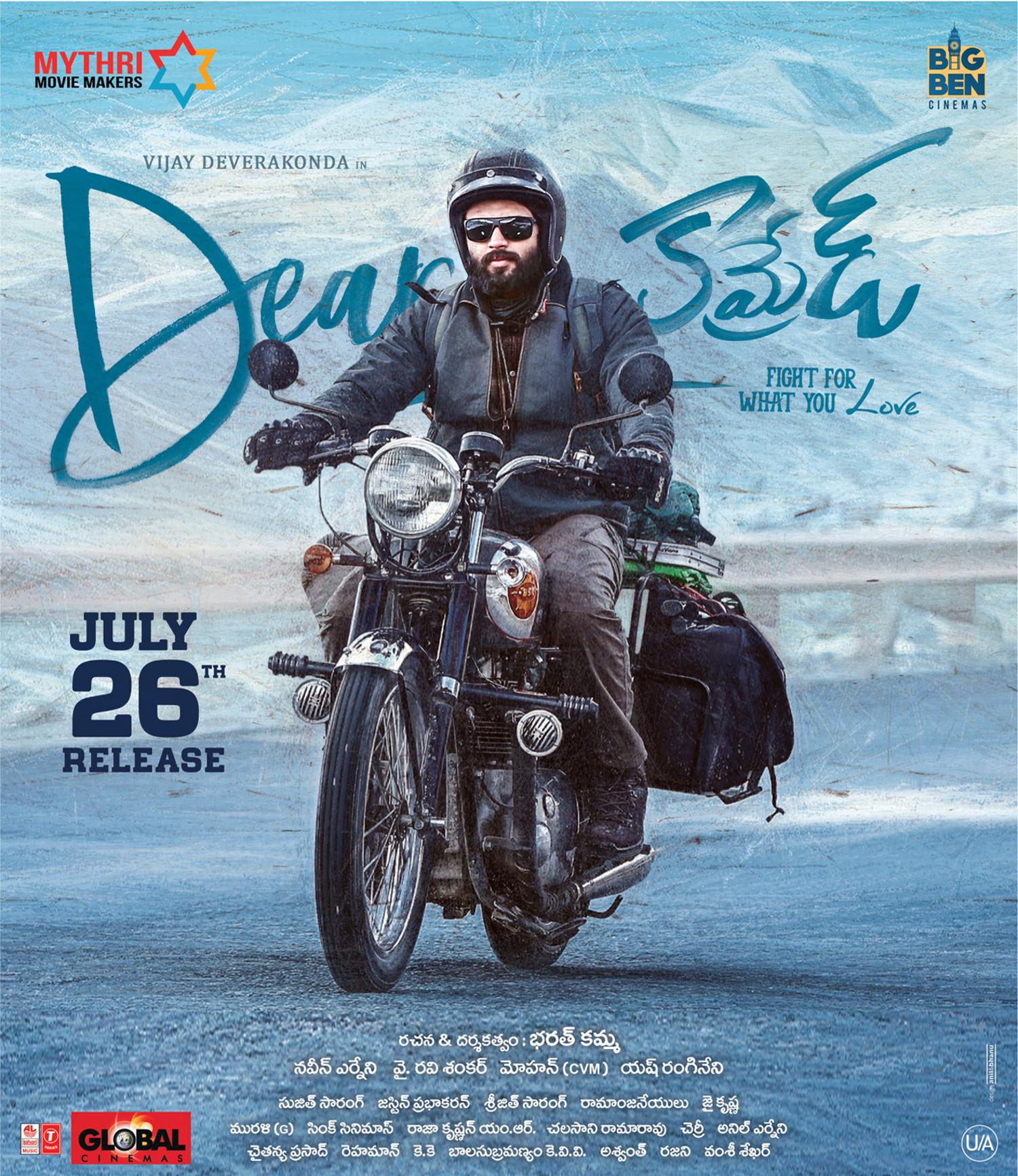 Actor Vijay Deverakonda in Dear Comrade Movie Release Posters