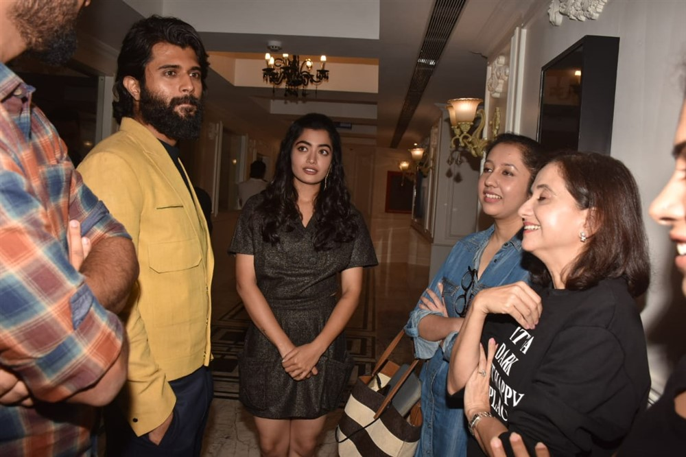 Vijay Deverakonda Rashmika Mandanna @ Dear Comrade Special Screening in Mumbai Photos