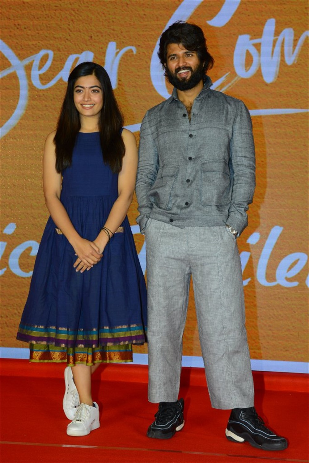 Rashmika Mandanna, Vijay Deverakonda @ Dear Comrade Movie Trailer Launch Photos