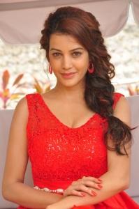 Actress Deeksha Panth in Red Skirt Photos