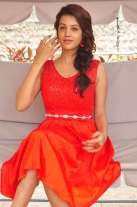 Telugu Actress Deeksha Panth Red Skirt Photos