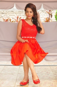 Telugu Actress Deeksha Panth in Red Skirt Photos