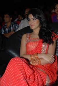 Deeksha Seth Hot Saree Photos at Rebel Audio Release