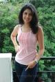 Deeksha Seth Latest Hot Photoshoot in Sleeveless Pink T-Shirt