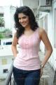 Deeksha Seth Latest Hot Photos in Sleeveless Pink T-Shirt