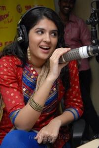 Deeksha Seth at Radio Mirchi Studios, Hyderabad