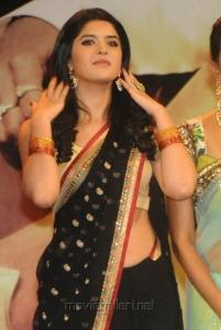 Actress Deeksha Seth Hot Pics in Black Saree